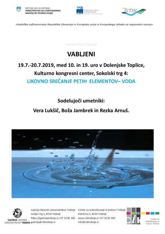 Forma Viva Trebnje likovno srečanje petih elementov Voda Dol